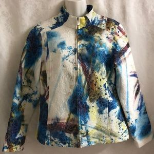 Kaktus blazer tie-dye effect zip-up sz M